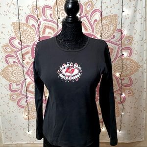 Tampa Bay Buccaneers Celebration Logo Black Tee